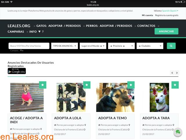 Web gratuita de difusiones Leales.org - 9