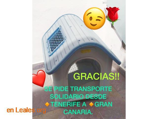 SE PIDE TRANSPORTE SOLIDARIO PARA CASETA - 1