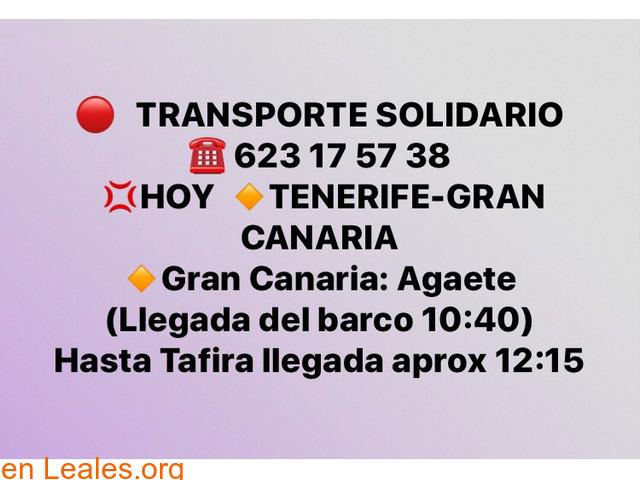 TRANSPORTE TENERIFE -GRAN CANARIA. - 1