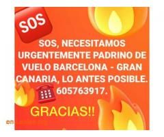PADRINO DE VUELO: BARCELONA-GRAN CANARIA - Imagen 1